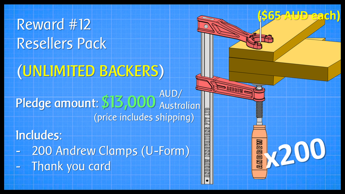 Resellers Pack - 200 Andrew Clamps