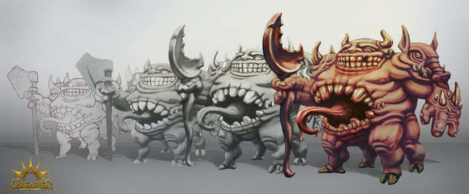 Gluttony creature design steps