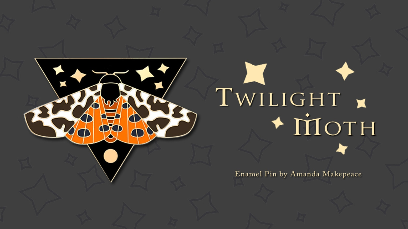 Twilight Moth is a limited edition hard enamel pin inspired by my love of nature and magic.
