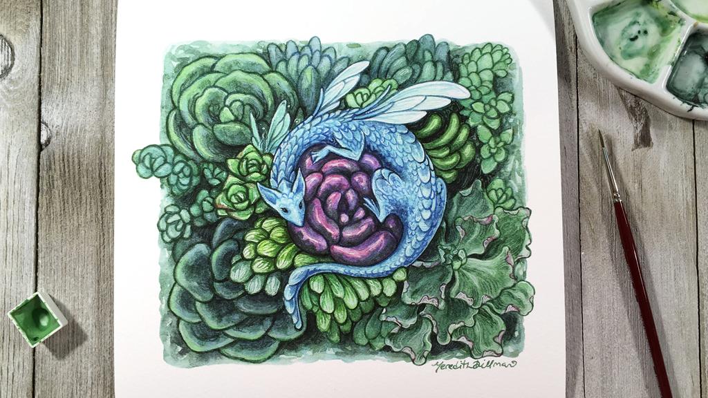 Make 100 Little Succulent Dragon prints project video thumbnail