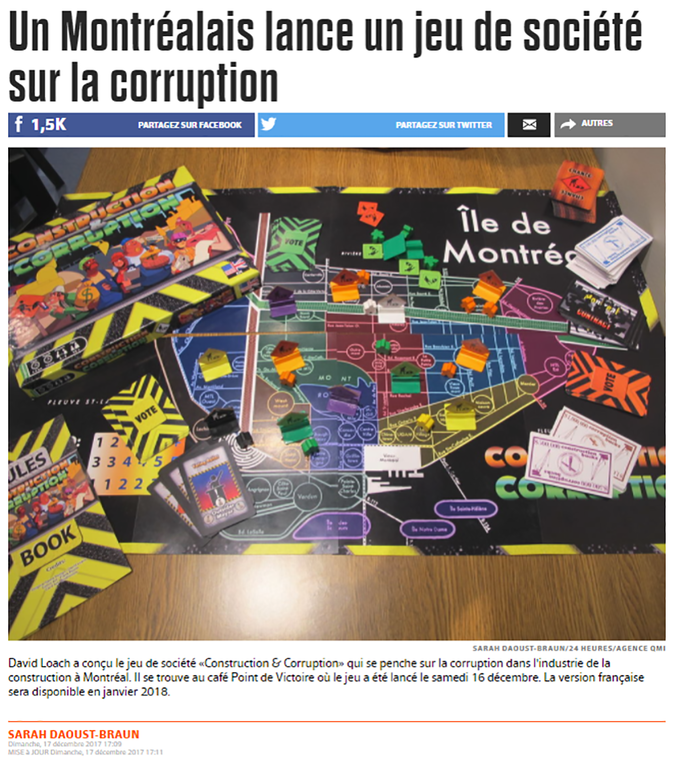 Coverage from Le Journal de Montréal