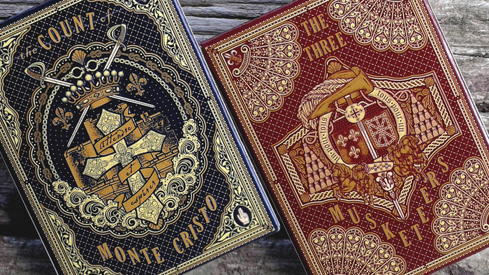 Tribute to Alexandre Dumas Classics: The Count of Monte Cristo and The Three Musketeers Playing Cards