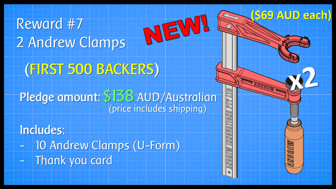 2 Andrew Clamps