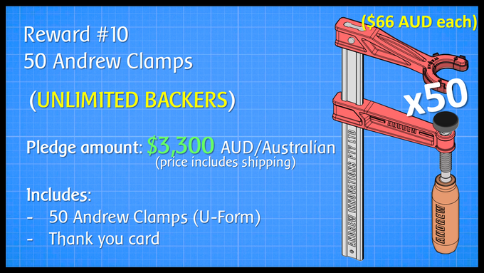 50 Andrew Clamps