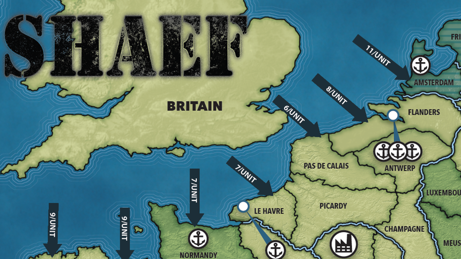 A two-player, card-driven World War II strategy game covering the period from June 1944 to March 1945.