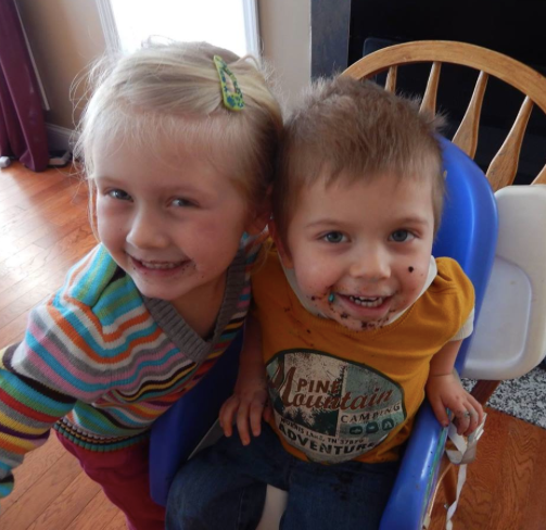 Camden and her brother Wyatt- they both LOVE treats!