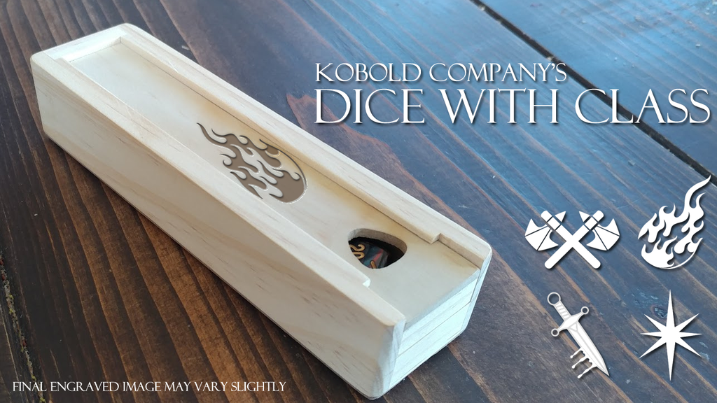 Project image for Dice with Class - Character Themed Dice and Dice Boxes (Canceled)