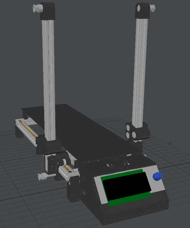 Machine view from CAD software.