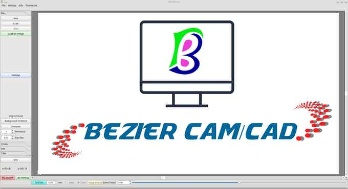 Link to BezierCam/CAD click on Picture