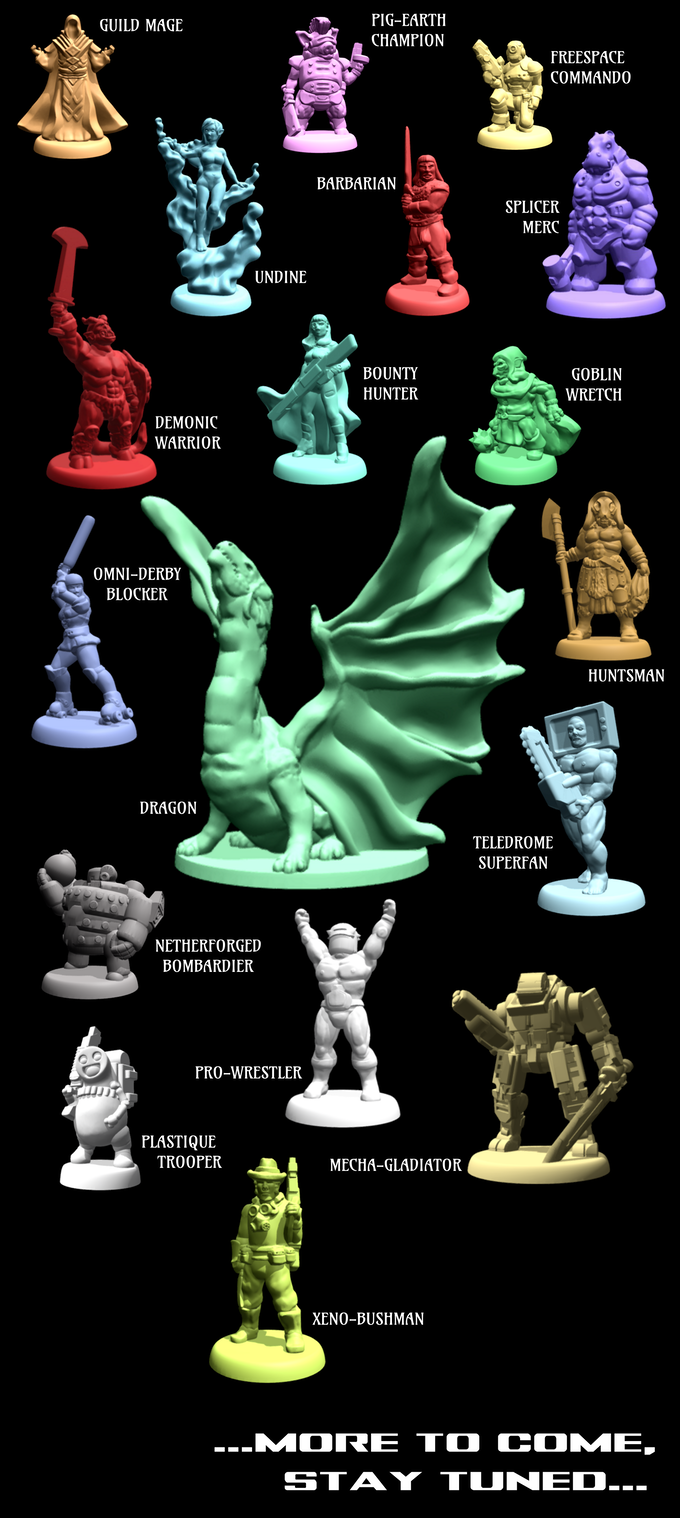 Just a few of the character models to be included with the base set. We'll update this image as we reveal new models throughout the campaign....