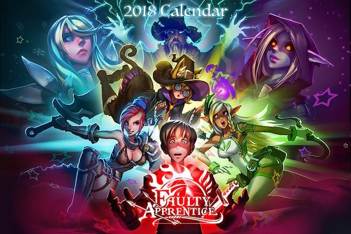 Faulty Apprentice 2018 Calendar