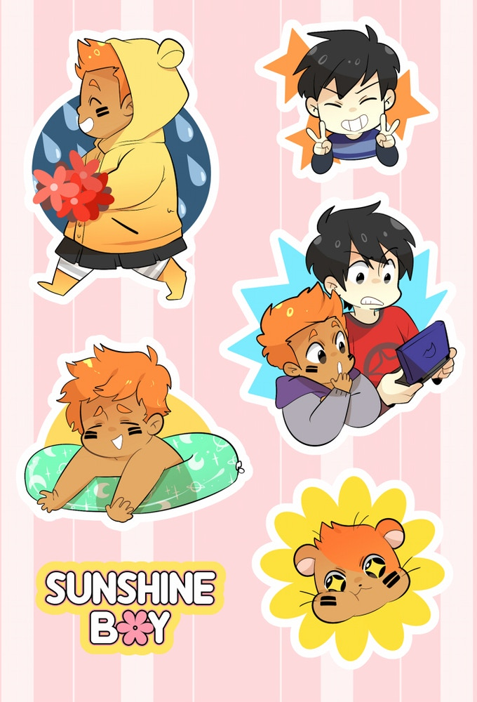 Sunshine-infused stickers!