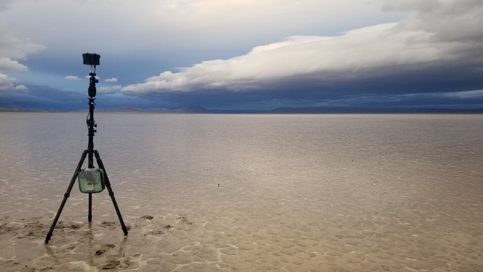 A Storm over the Alvord Desert