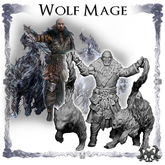 Wolf Mage, sculpted by Lux Thantor