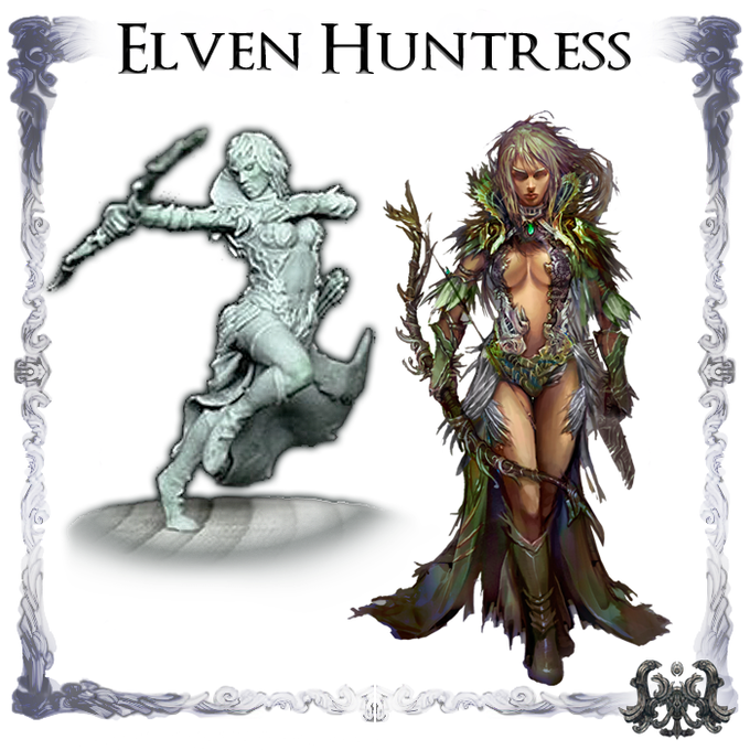 Elven Huntress, Sculpted by Lux Thantor