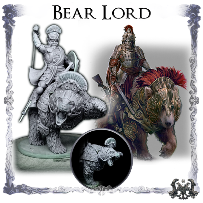 Bear Lord, Sculpted by Lux Thantor.