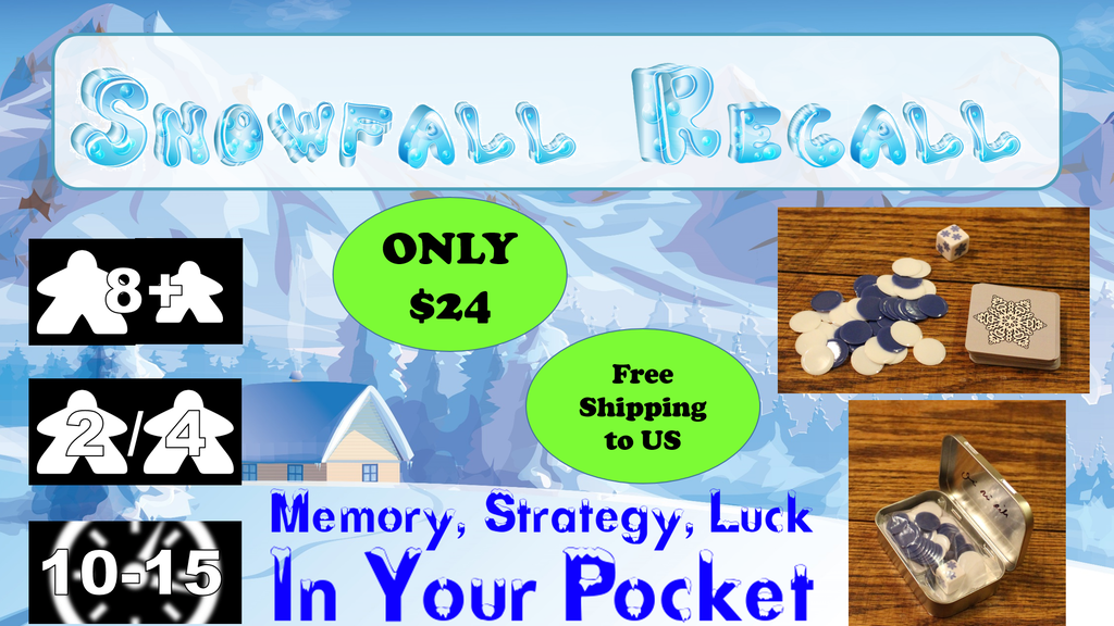 Snowfall Recall - Memory, Strategy, Luck, in your pocket. project video thumbnail