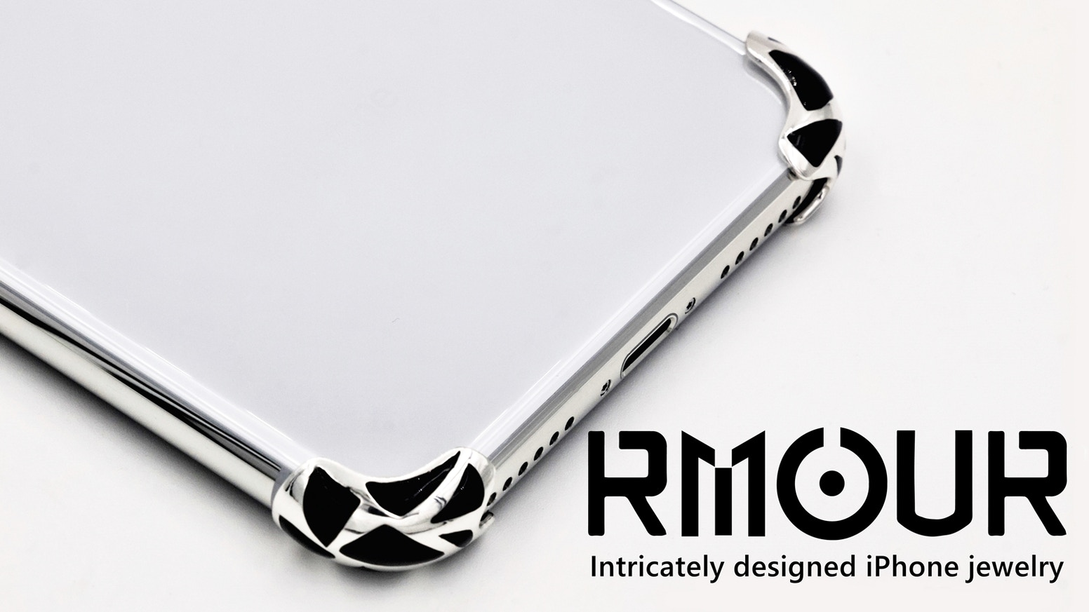 Intricately designed iPhone Jewelry. Rmour protects the most vulnerable parts of your iPhone in a #luxury and #stylish way.