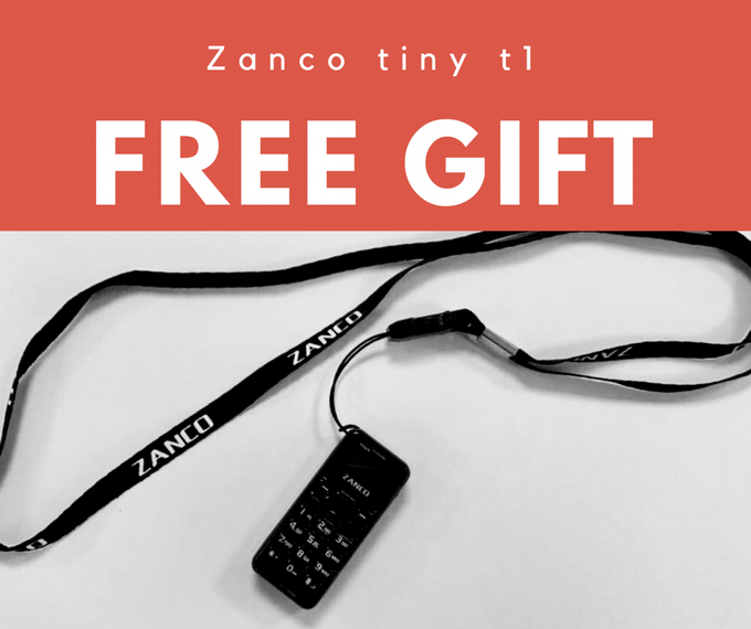 Free lanyard to be included with every Zanco tiny t1 phone
