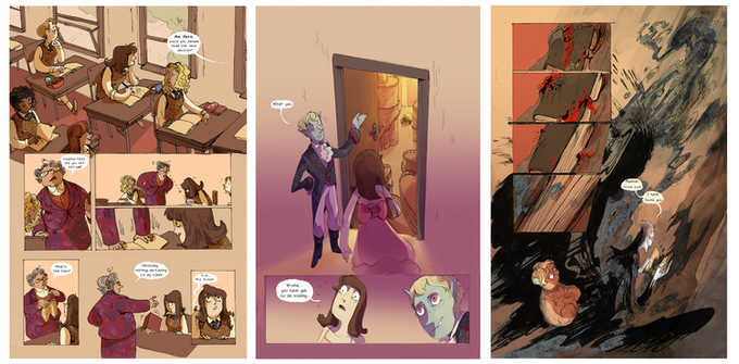 'The Author's Apprentice' Comic Pages