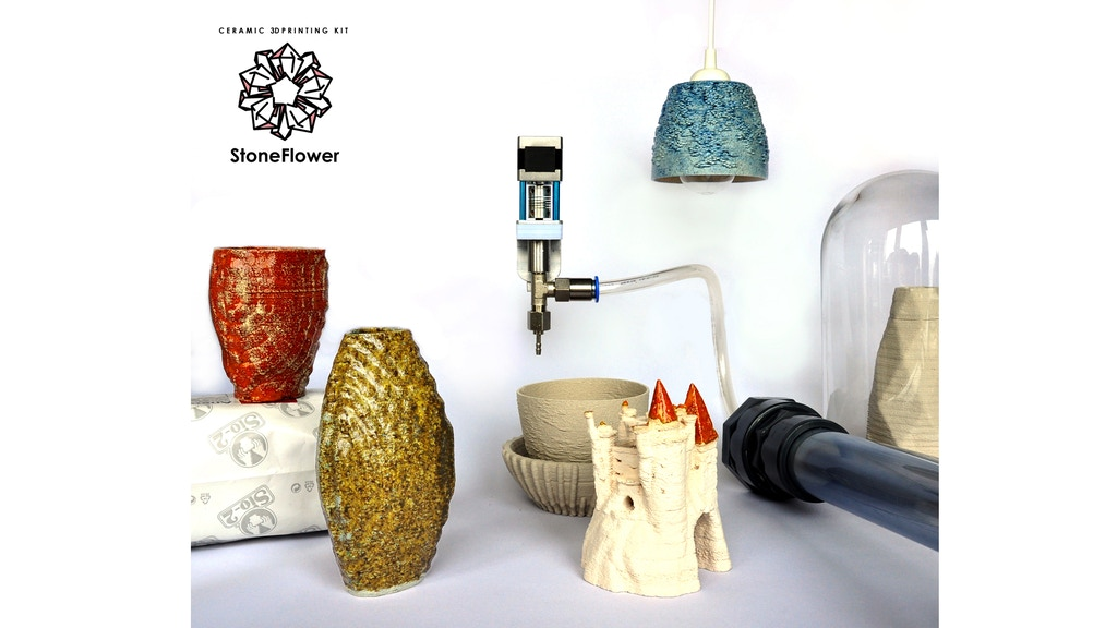 StoneFlower: Ceramic 3D Printing KIT project video thumbnail