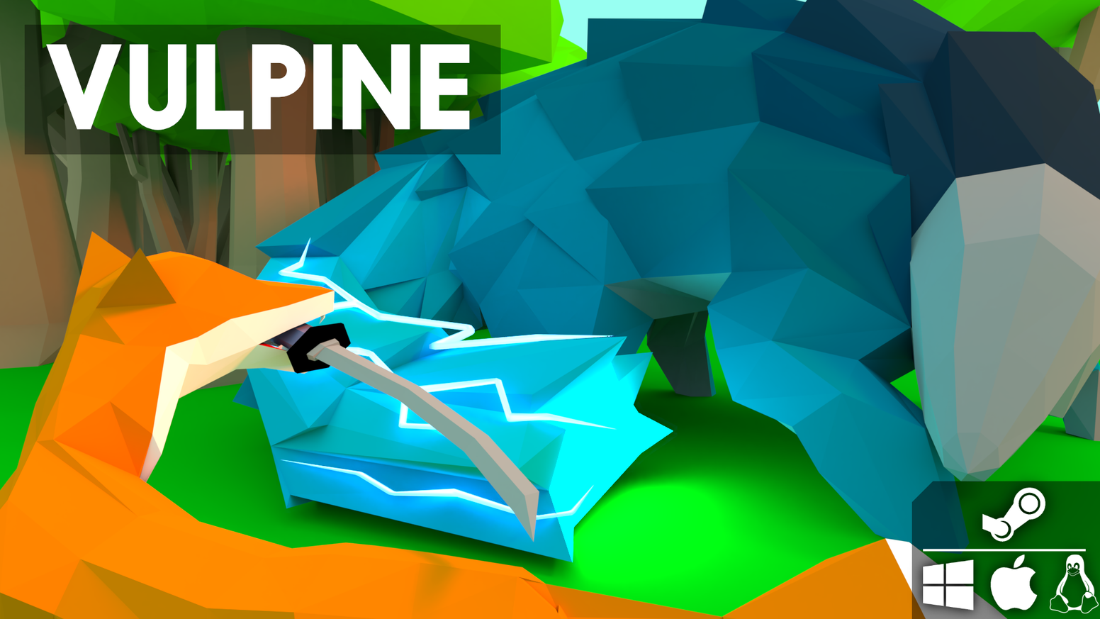 Vulpine is an action exploration game where you play as animals with weapons.