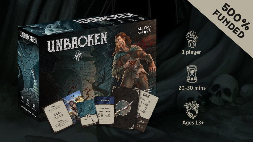 Unbroken: a solo game of survival and revenge project video thumbnail