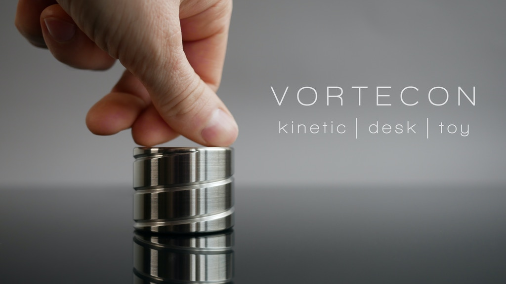 VORTECON- Kinetic desk toy with mesmerizing motion project video thumbnail