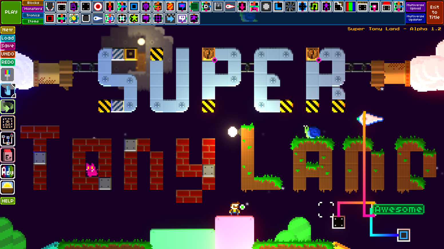 Super Tony Land - Create and Share Levels by RobotLovesKitty