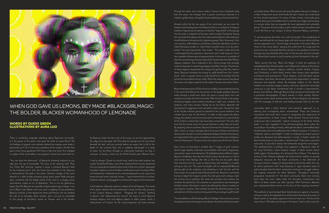 When God Gave Us Lemons, Bey Made #BlackGirlMagic: The Bolder, Blacker Womanhood of Lemonade by Quess Green with illustrations by Aura Luo