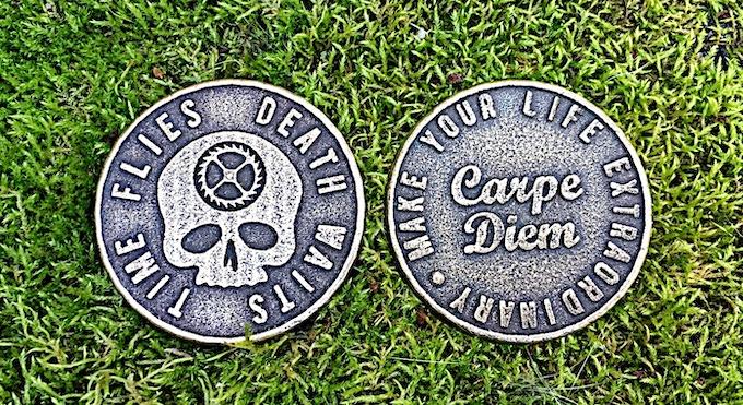 Original Carpe Diem Coin Design in Bronze Steel