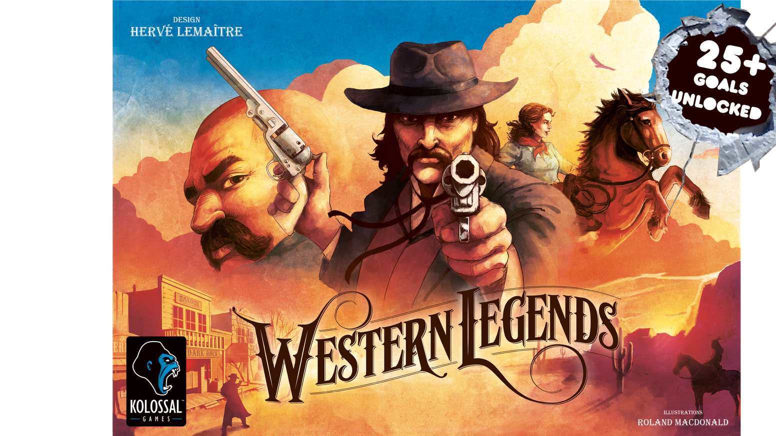 A Western tabletop adventure of legendary proportions for 2-6 players in 90 minutes or less.