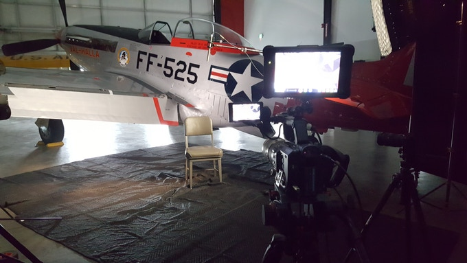Getting ready for Bill Anders Interview at his Air Museum in Washington State
