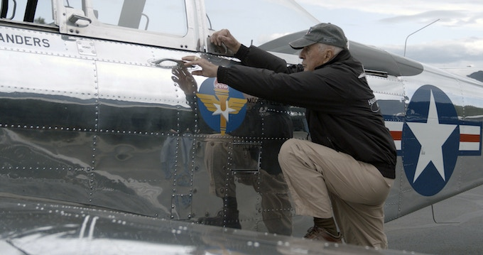 Bill Anders getting ready for flight in his private aircraft.