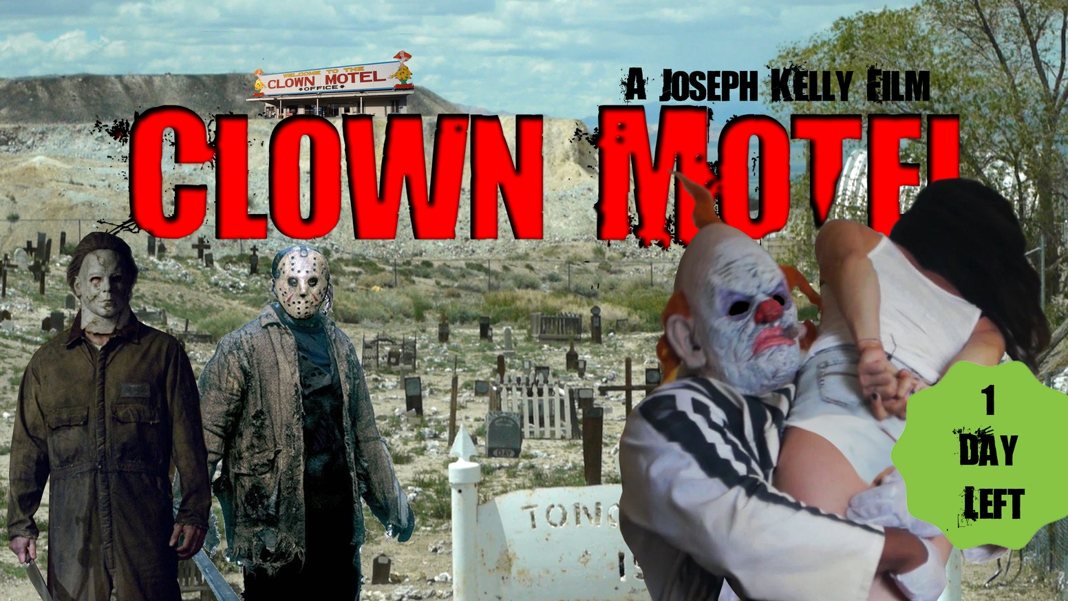 The First Jason Voorhees (Ari Lehman) and the First Michael Myers (Tony Moran) join forces at the notoriously haunted Clown Motel!