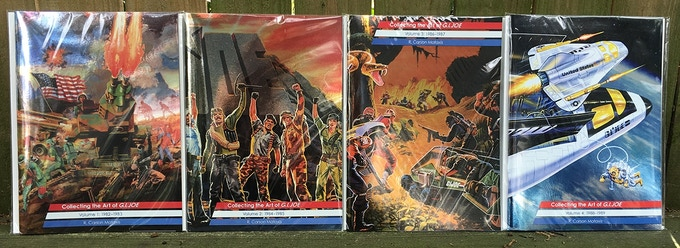 Collecting the Art of G.I.Joe: Volumes 1–4 (1982-1989) with Accufoil covers