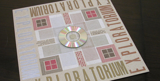 Exploratorium mini-CDr with letterpress packaging edition of 300