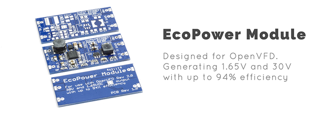 EcoPower Module. Generating right voltages for VFD tubes efficiently