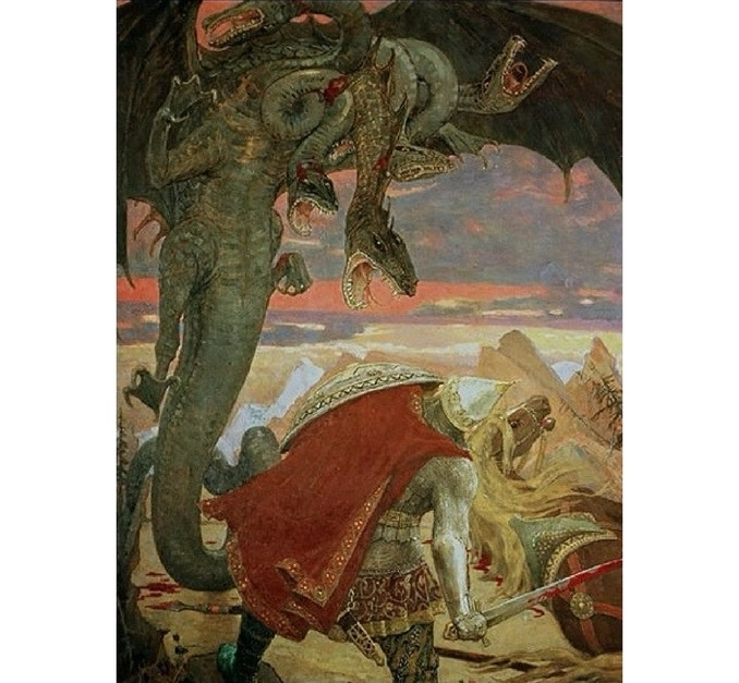 This classic painting by Victor Vasnetsov was a huge inspiration for a scene in book 3