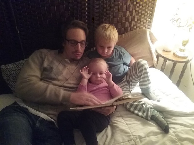 Teaching them to love fairy tales early...