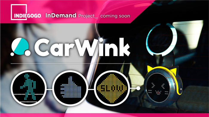 The world's first car device allowing you to communicate with other drivers through animation.