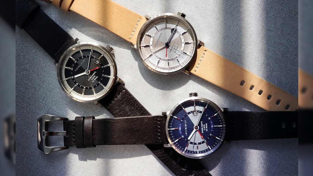 Dual Time Travel Watches - by MERIDIEM project video thumbnail