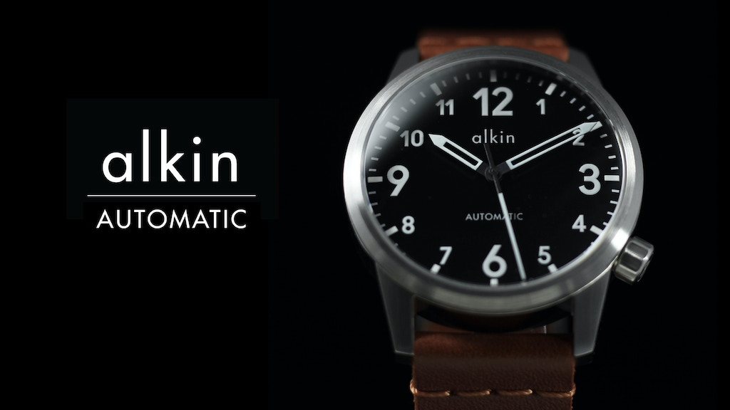 The Alkin Model One Automatic Watch project video thumbnail