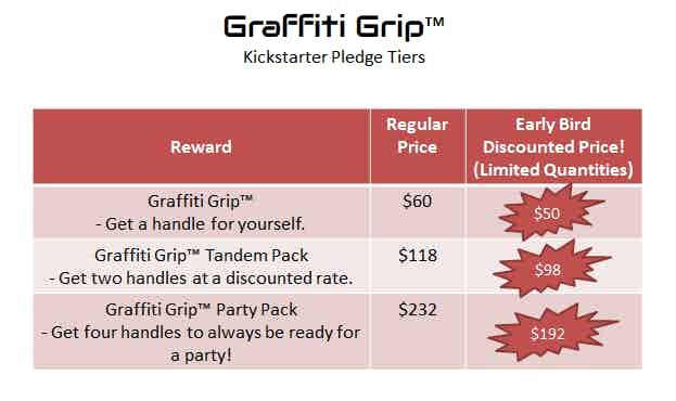 Graffiti Grip pricing - shipping costs are not included.