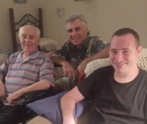 My grandfather, uncle and I