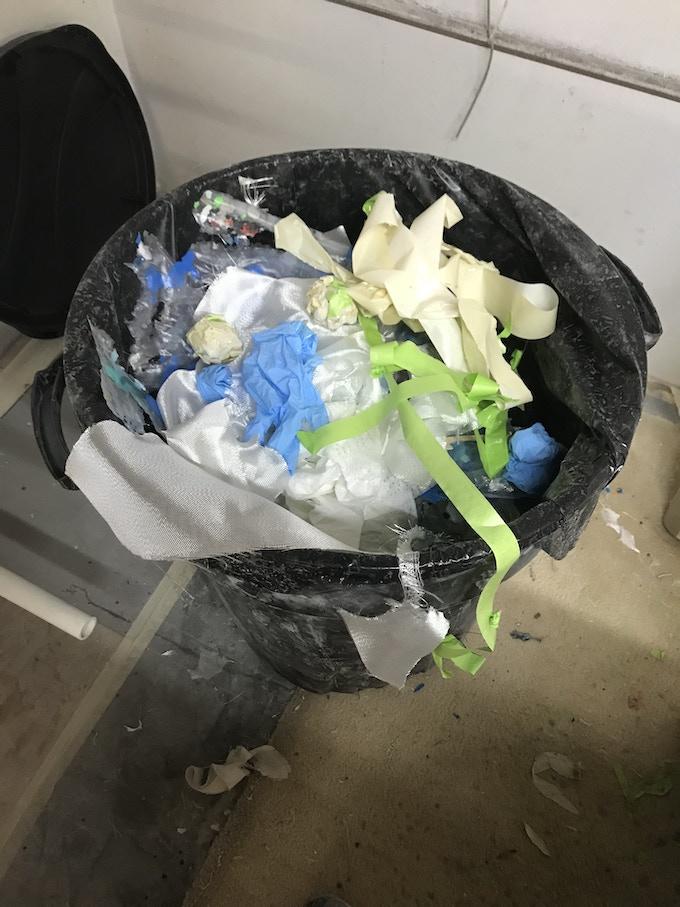 Typical Glassing Room Trash