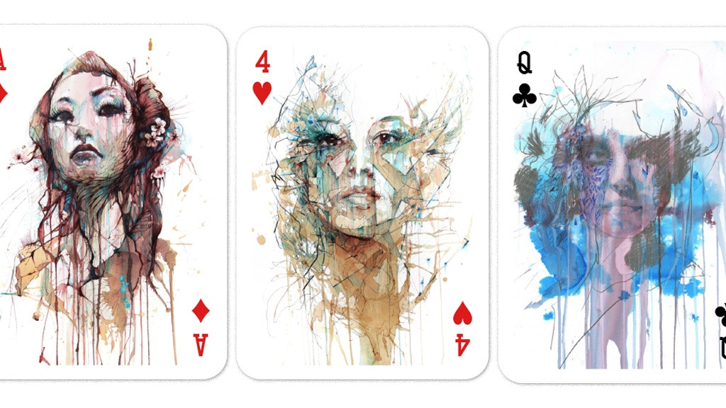 Artist Playing Cards in Ink Tea and Alcohol printed by USPCC