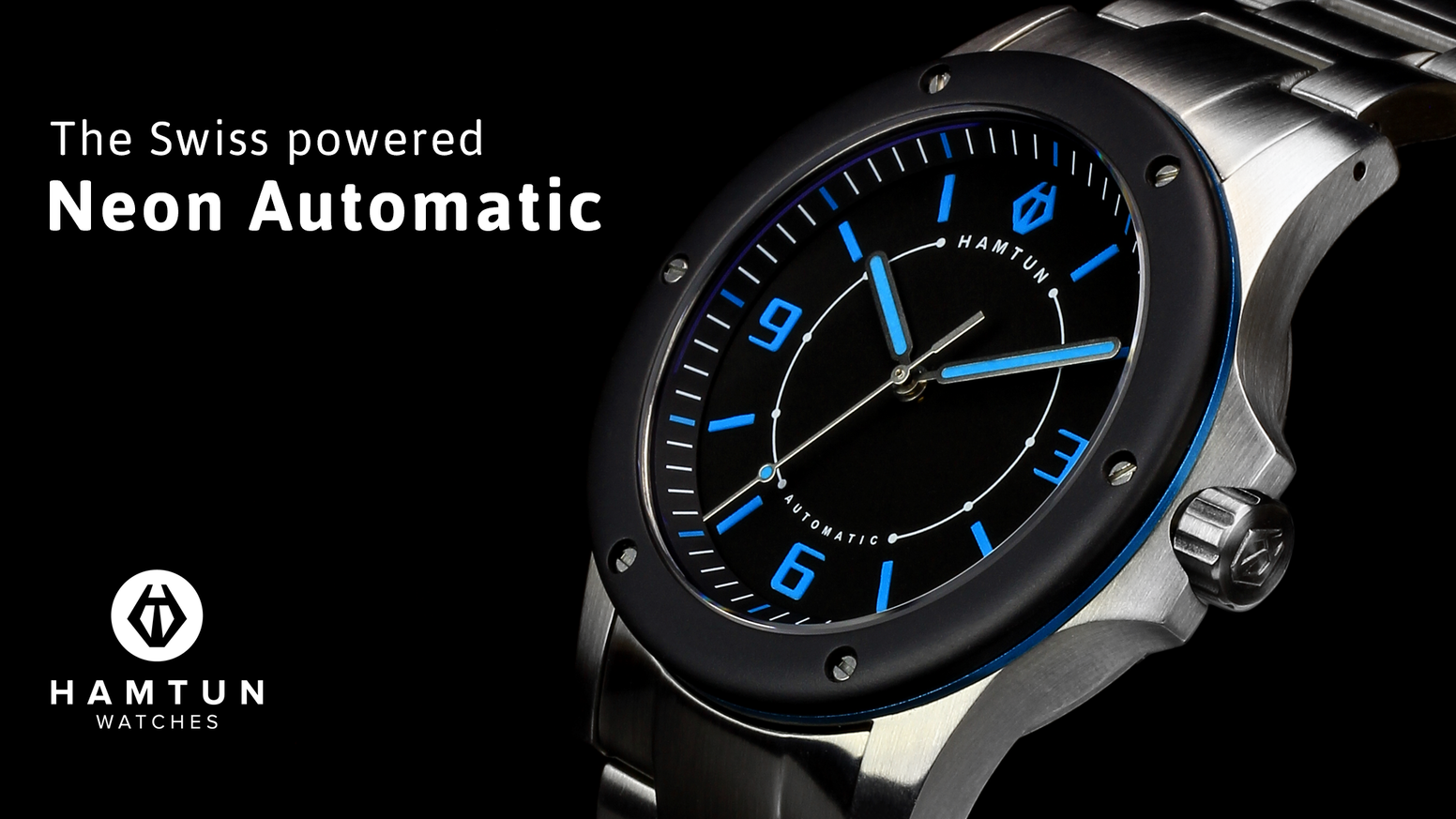 Neon Automatic: stunning Swiss powered watches from Hamtun