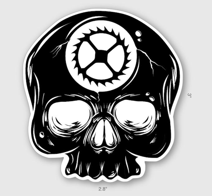 Tempus Fugit / Memento Mori Skull Sticker