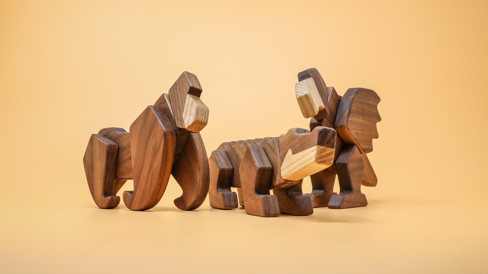 3 quality magnetic wooden animals you can assemble & reassemble to build anything you can imagine! For creative kids & playful adults!